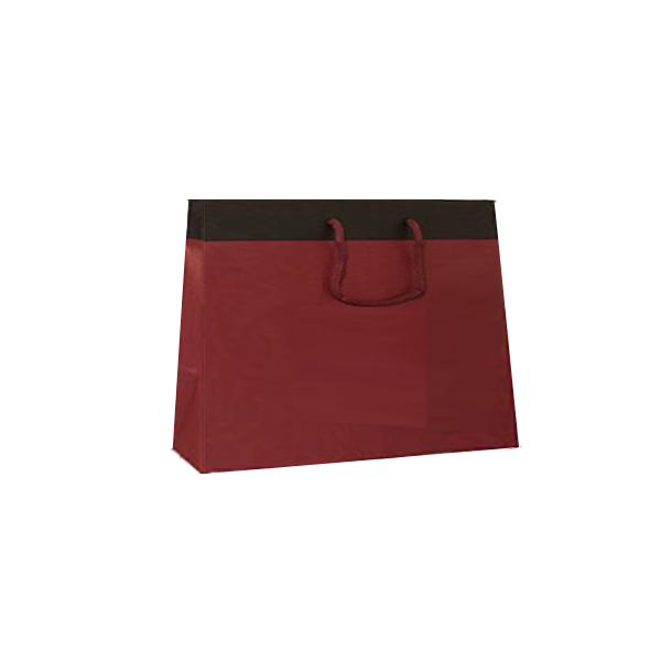Sacchetto maxi bordeaux risv. marrone (25pz)